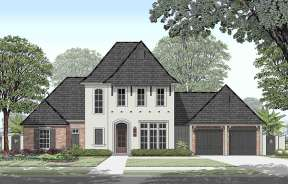 French Country House Plan #7516-00039 Elevation Photo