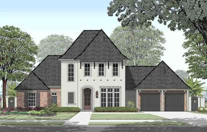 4 Bed, 4 Bath, 3630 Square Foot House Plan - #7516-00039