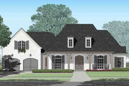 4 Bed, 4 Bath, 3779 Square Foot House Plan - #7516-00040