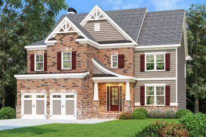 5 Bed, 4 Bath, 3301 Square Foot House Plan - #009-00285