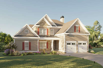 4 Bed, 3 Bath, 3375 Square Foot House Plan #009-00287