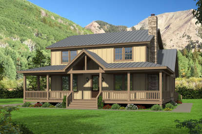 4 Bed, 2 Bath, 2388 Square Foot House Plan - #940-00166