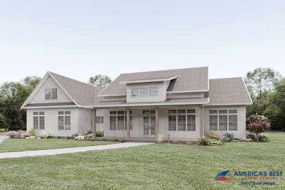 4 Bed, 3 Bath, 2938 Square Foot House Plan - #6849-00085