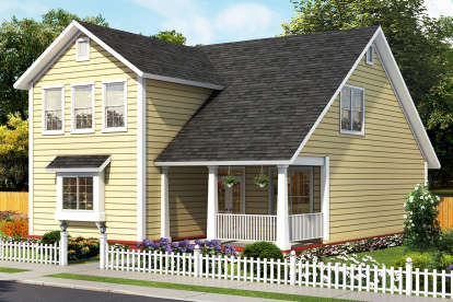 3 Bed, 3 Bath, 1878 Square Foot House Plan - #4848-00362