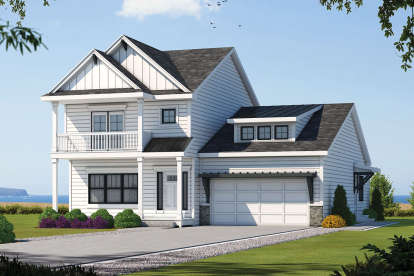 4 Bed, 3 Bath, 2338 Square Foot House Plan - #402-01599