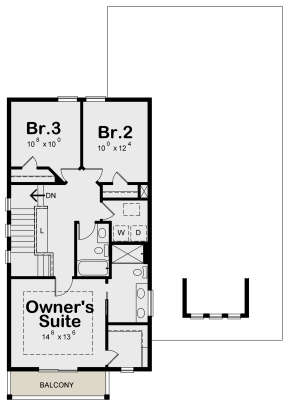 Second Floor for House Plan #402-01599