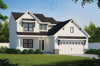 3 Bed, 2 Bath, 2077 Square Foot House Plan - #402-01600
