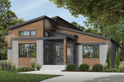 1 Bed, 1 Bath, 1212 Square Foot House Plan - #034-01225