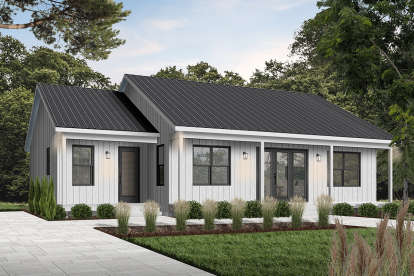 2 Bed, 2 Bath, 1604 Square Foot House Plan - #034-01226
