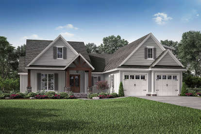 3 Bed, 2 Bath, 2074 Square Foot House Plan #041-00196