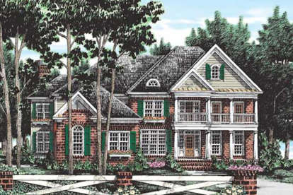 5 Bed, 4 Bath, 3688 Square Foot House Plan #8594-00348