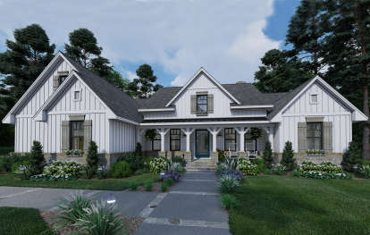 3 Bed, 3 Bath, 2459 Square Foot House Plan #9401-00103