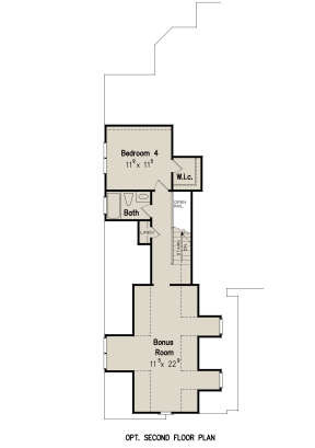 Optional Second Floor for House Plan #8594-00361