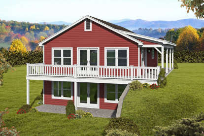 2 Bed, 2 Bath, 2016 Square Foot House Plan - #940-00171