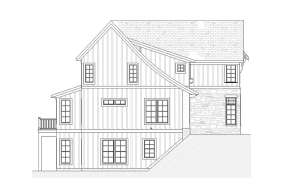 European House Plan #1637-00140 Elevation Photo