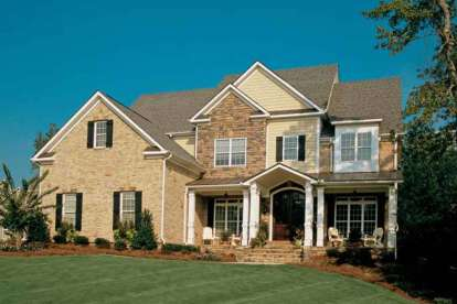 5 Bed, 4 Bath, 4066 Square Foot House Plan - #8594-00393