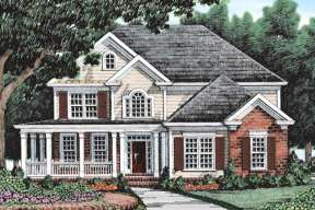 Country House Plan #8594-00396 Elevation Photo