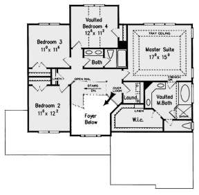 Second Floor for House Plan #8594-00396