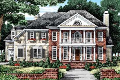 5 Bed, 4 Bath, 3449 Square Foot House Plan #8594-00407