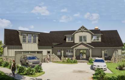 5 Bed, 5 Bath, 3623 Square Foot House Plan #1070-00270