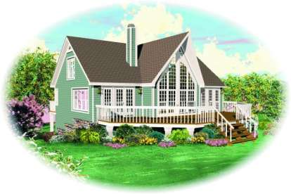 3 Bed, 3 Bath, 1772 Square Foot House Plan - #053-00193