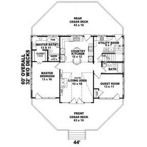 First Floor for House Plan #053-00193