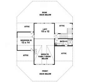 Second Floor for House Plan #053-00193