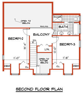 Second Floor for House Plan #033-00130