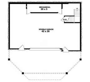 Basement/Garage Floor for House Plan #053-00194