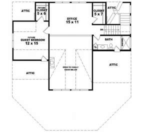Second Floor for House Plan #053-00194