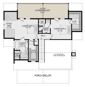 Second Floor for House Plan #940-00176