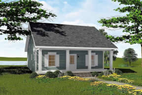 Cottage House Plan #1776-00090 Elevation Photo