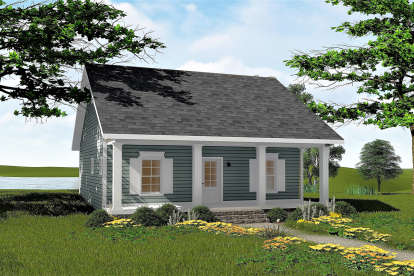 2 Bed, 1 Bath, 992 Square Foot House Plan #1776-00090