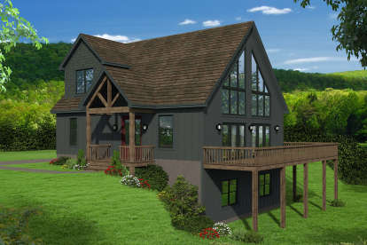 3 Bed, 2 Bath, 1736 Square Foot House Plan - #940-00180