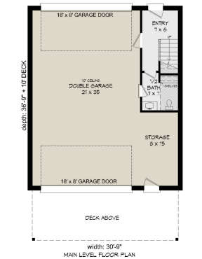 First Floor for House Plan #940-00183