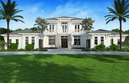 4 Bed, 4 Bath, 4374 Square Foot House Plan - #207-00081