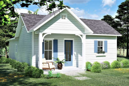 3 Bed, 2 Bath, 1320 Square Foot House Plan - #1776-00098
