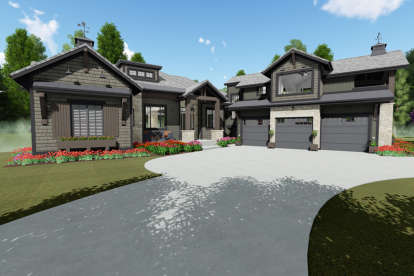 3 Bed, 3 Bath, 3886 Square Foot House Plan - #425-00001
