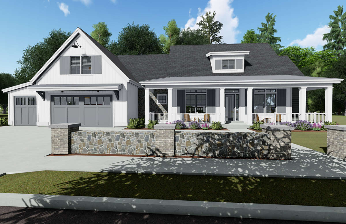 Modern Farmhouse Plan: 2,593 Square Feet, 3-5 Bedrooms, 4 ...