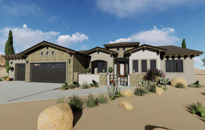 3 Bed, 3 Bath, 2982 Square Foot House Plan #425-00008