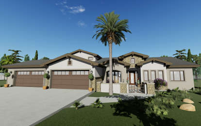 3 Bed, 3 Bath, 3087 Square Foot House Plan #425-00009