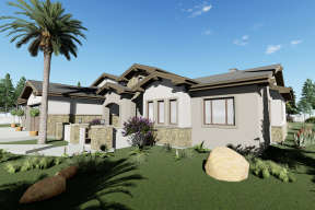 Ranch House Plan #425-00009 Elevation Photo