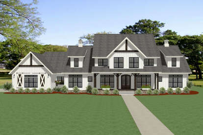 6 Bed, 5 Bath, 4991 Square Foot House Plan - #6849-00089