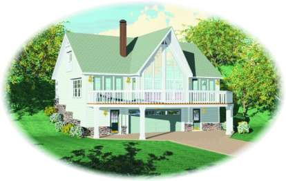 2 Bed, 2 Bath, 1842 Square Foot House Plan - #053-00197