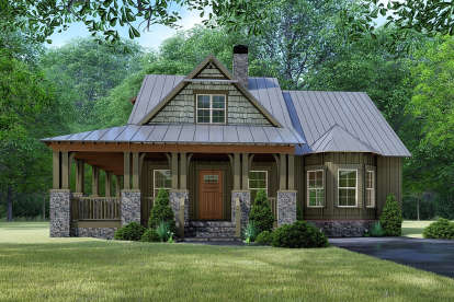 3 Bed, 2 Bath, 1905 Square Foot House Plan - #8318-00130