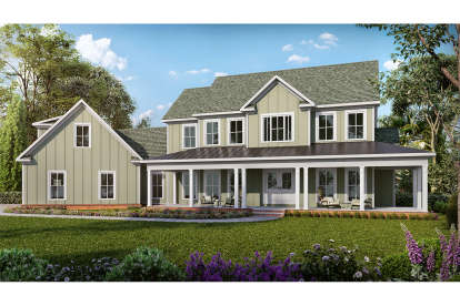 3 Bed, 2 Bath, 2584 Square Foot House Plan - #6082-00175