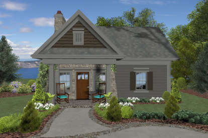 1 Bed, 1 Bath, 514 Square Foot House Plan - #036-00261