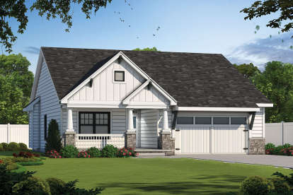 3 Bed, 2 Bath, 1898 Square Foot House Plan - #402-01613