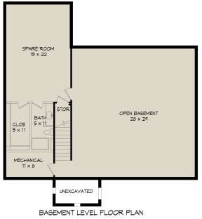 Basement for House Plan #940-00191