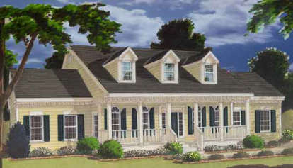 5 Bed, 3 Bath, 2705 Square Foot House Plan - #033-00048